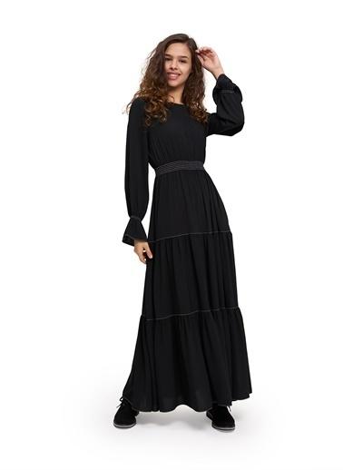 Mizalle Youth Elbise Siyah